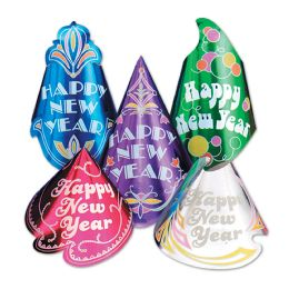 50 Units of Champagne Hat Assortment Asstd Colors; One Size Fits Most; Elastic Attached - Party Accessory Sets