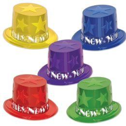 25 Units of New Year Star Toppers Asstd Colors; One Size Fits Most - Party Accessory Sets