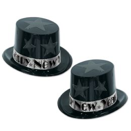 25 Units of New Year Star Topper black & silver; one size fits most - Party Accessory Sets
