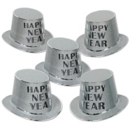 25 Units of Silver Mirage Hi-Hat encapsulated glitter; one size fits most - Party Accessory Sets