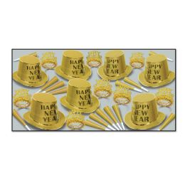 Gold Mirage Asst for 50 - Party Accessory Sets