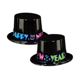 25 Units of Neon Party Topper black; one size fits most - Party Accessory Sets