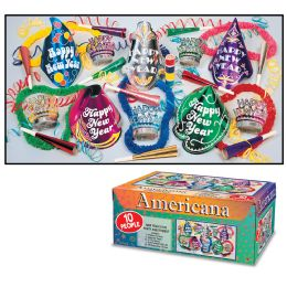 Americana Asst For 10 No Retail Price On Carton - Party Accessory Sets