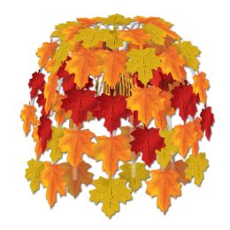 12 Units of Leaves Of Autumn Cascade combination metallic & boardstock - Party Center Pieces