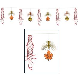 12 Units of Leaf Shimmer Garland - Streamers & Confetti