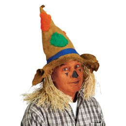 6 Units of Scarecrow Hat One Size Fits Most - Party Hats & Tiara