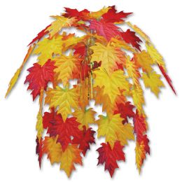 12 Units of Fabric Fall Leaves Cascade combination metallic & polyester - Party Center Pieces