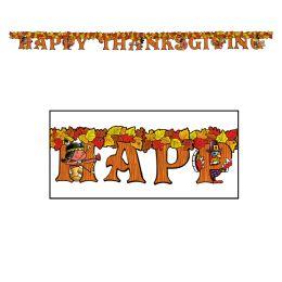 12 Units of Happy Thanksgiving Streamer - Streamers & Confetti