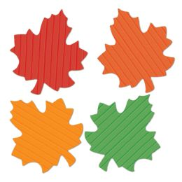 24 Units of Tissue Autumn Leaves - Hanging Decorations & Cut Out