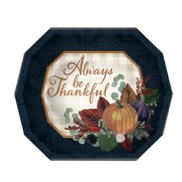12 Units of Fall Thanksgiving Dinner Plates Not Microwave Safe - Party Paper Goods