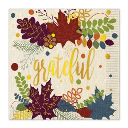 12 Units of Friendsgiving Luncheon Napkins (2-Ply); Not Microwave Safe - Party Paper Goods