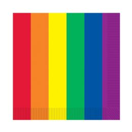 12 Units of Rainbow Luncheon Napkins (2-Ply) - Party Supplies