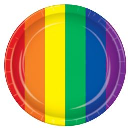 12 Units of Rainbow Plates - Party Supplies