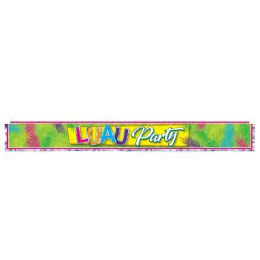12 Units of Metallic Luau Party Fringe Banner prtd 1-ply PVC fringe - Party Banners