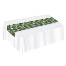 12 Units of Palm Leaf Fabric Table Runner - Party Supplies