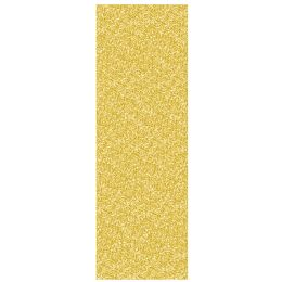 12 Units of Printed Sequined Tablecover Gold; Plastic - Party Supplies