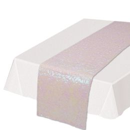 12 Units of Sequined Table Runner Opalescent - Party Supplies