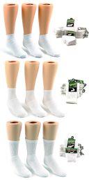 180 Units of Children's Athletic Socks Combo - White - Size 6-8 - Boys Crew Sock