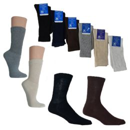 36 Units of Knit Crew Diabetic Socks - Custom Assortment - Men's Diabetic Socks