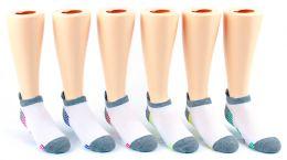5 Units of Kid's FILA Brand No Show Socks - 6-Pair Packs (Size 6-8) - Boys Ankle Sock
