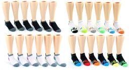 60 Units of Kid's FILA Brand No Show Socks - 6-Pair Packs (Size 6-8) - Boys Ankle Sock