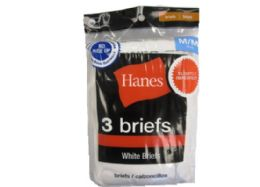 24 Units of Hanes Boy's White Briefs - 3 Pack - Sizes XS-L - Boys Underwear