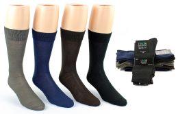 24 Units of Men's Classic Crew Dress Socks - Assorted Colors - Size 10-13 - Mens Dress Sock