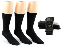 24 Units of Men's Black Classic Crew Dress Socks - Size 10-13 - Mens Dress Sock