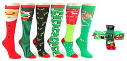 60 Units of Christmas Knee High Socks - Size 9-11 - Womens Knee Highs