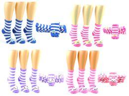 72 Units of Women's Fuzzy Crew Socks W/ Plush Adornment - Size 9-11 - Womens Fuzzy Socks