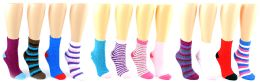 24 Units of Women's Fuzzy Ankle Socks - Women's Size 9-11 - Womens Fuzzy Socks