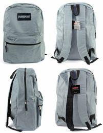 "12 Units of 15"" Classic Puresport Backpacks - Grey - Backpacks"