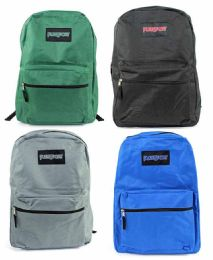 """24 Units of 15"""" Classic Puresport Backpacks - Choose Your Colors - Backpacks"""