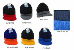 36 Units of Men's/boy's Knit Hats - TwO-Tone - Winter Hats