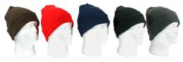 60 Units of Adult Cuffed Knit Hats - Winter Hats