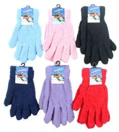 60 Units of Women's Fuzzy Gloves - Fuzzy Gloves
