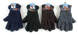 60 Units of Men's Sport Fleece Lined Gloves - Assorted Colors - Fleece Gloves