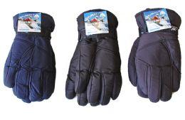 36 Units of Men's Ski Gloves - Solid Colors - Ski Gloves