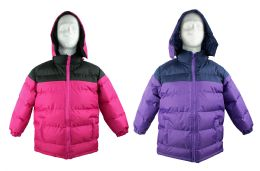 12 Units of Kid's Winter Bubble Ski Jackets w/ Detachable Hood - Sizes 7-16 - Choose Your Color(s) - Junior Kids Winter Wear