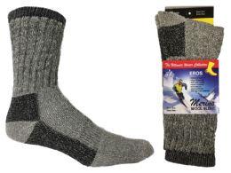 30 Units of Children's Thermal Merino Wool Crew Socks - Size 6-8 - 2-Pair Packs - Boys Crew Sock