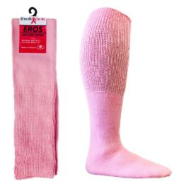 48 Units of Pink Football Socks For 3787 - Men's Size 10-13 - Breast Cancer Awareness Socks