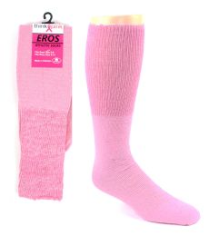 48 Units of Pink Football Socks For 3787 - Kid's Size 6-8 - Breast Cancer Awareness Socks