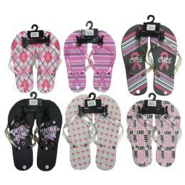 96 Units of Women's Flip Flops - 3787 - Women's Flip Flops