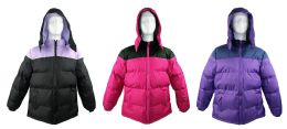12 Units of Women's Winter Bubble Ski Jackets w/ Detachable Hood - Women's Winter Jackets