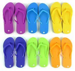 48 Units of Women's Flip Flops - Solid Colors - Women's Flip Flops