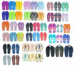 96 Units of Men's, Women's, and Children's Flip Flop Assortment - Men's Flip Flops and Sandals