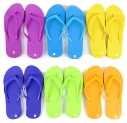 48 Units of Children's Flip Flops - Solid Colors - Boys Flip Flops & Sandals