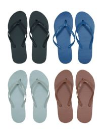 96 Units of Children's Flip Flops - Solid Colors - Boys Flip Flops & Sandals