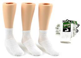 24 Units of Children's Athletic Tube Socks - White - Size 6-8 - Boys Crew Sock