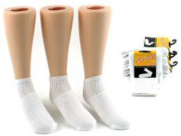 24 Units of Toddler's Athletic Tube Socks - White - Size 1-3 - Boys Crew Sock